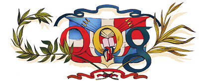 Google Logo: Dominican Republic independence day - 2012